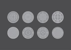 Manhole plana vector libre