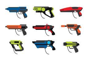 Vettore libero della pistola dell'etichetta del laser
