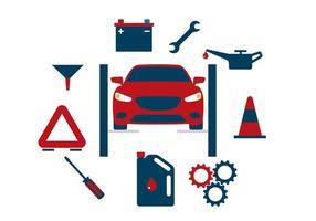 Vectores del cambio de aceite del coche