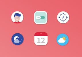 Flat Vector Mobile Icons
