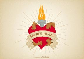 Free Vector Sacred Heart Illustration