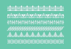 Libre Lace Trim Iconos Vector
