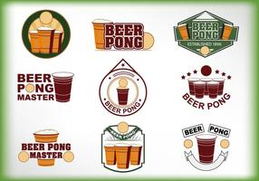 Beer Pong Label vector