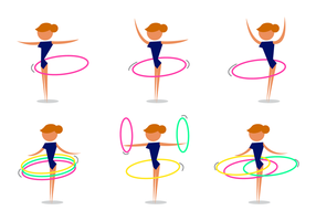 Vecteur hula hoop gratuit