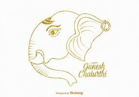 Gratis Happy Ganesh Chaturthi Vector Card