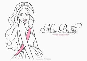 Miss Beauty Vector Illustration