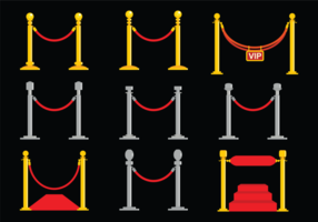 vettore di corda di velluto