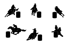 Gratis Barrel Racing Vector