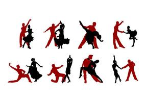 Samba Dance Silhouettes Vector