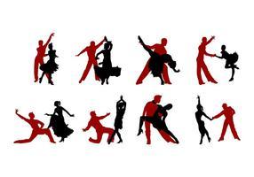 Free Samba Dance Silhouettes Vector