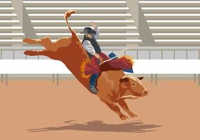 Bull Rider Performance vector