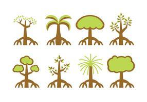Manglares vector de los árboles