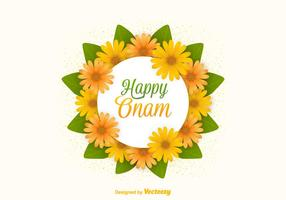Vector Free Happy Onam Flowers Card