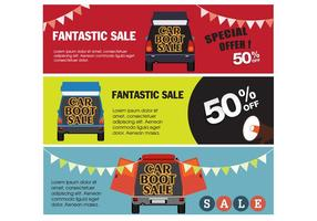 Banner Car Boot Sale Vectors