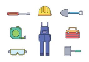 Gratis Worker Tools Vector