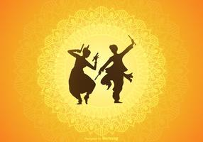Free Garba Vector Background
