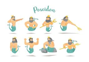 Freier Poseidon-Vektor