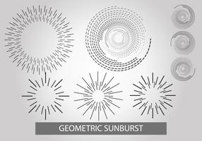 Geometrisk Sunburst Vector Set