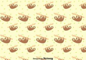 Sloth och Baby Sloth sömlösa mönster