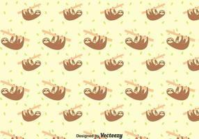 Sloth En Baby Sloth Naadloos Patroon