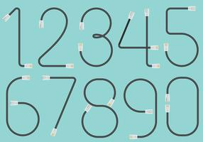 RJ45 Cable Numbers vector