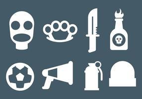 Vecteur gratuit d'icones de hooligans