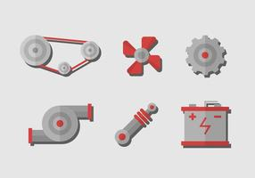 Vector de peças de carros grátis