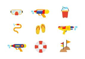 Free Songkran Vector Icon Set