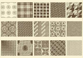 Sepia Toile Textures vector