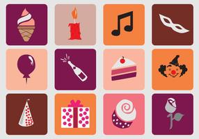 Birthday Sweet 16 Icon vector