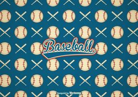 Free Retro Baseball Vector Background