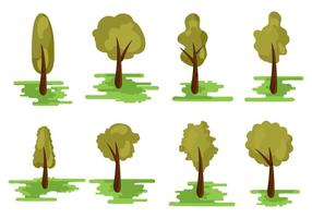 Varios tipos diferentes de vector de árbol
