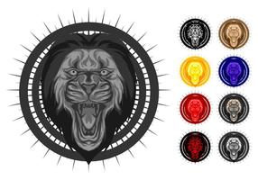 Illustration vectorielle gratuite Lion Lion de style Hydro74