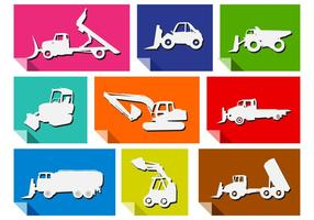 Snowplow icon set