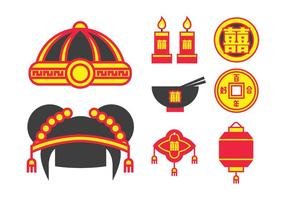 Traditional Chinese Wedding Pack vector