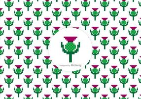 Free Thistle Pixel Vector Pattern