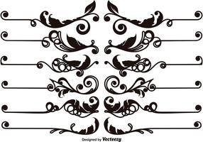 Set Of Vector Ornamental Text Dividers