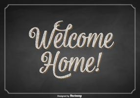 Gratis Vector Welkom Home Chalkboard Sign