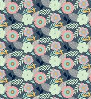 Flower-plants-vector-pattern
