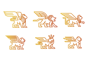 Gratis Winged Lion Vector