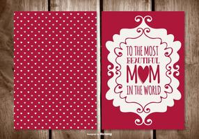 Cute Mother's Day Card vector