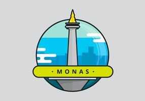 Ilustración de Monas Jakarta