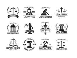 Template Logo Law Vector