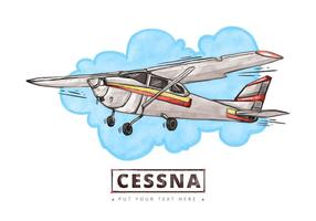 Cessna Watercolor Background gratuito