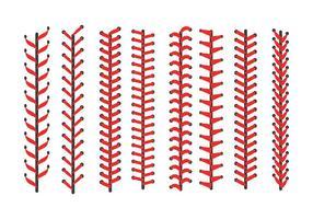 Béisbol Libre Laces Iconos Vector