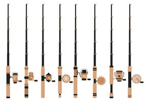 Free Fishing Rod Vector