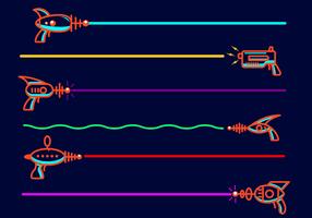 Vector libre de la etiqueta del laser