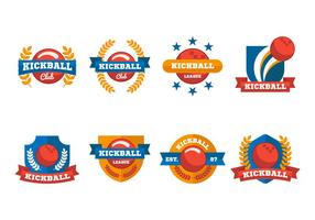 Gratis Kickball Label och Emblem Vector