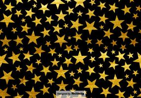 Black Background With Stars Seamless Pattern vector