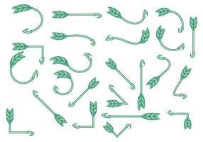 Vetores curvados Flechas